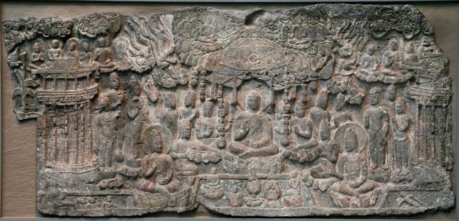 Western Paradise of the Buddha Amitabha Sculpture